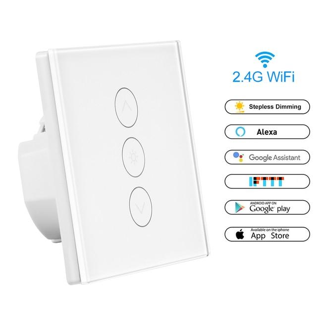 Smart Touch Screen Sensor Switch Dimmer LED Light Lamp Switch Wall Switch Remote Control Switch EU UK Standard