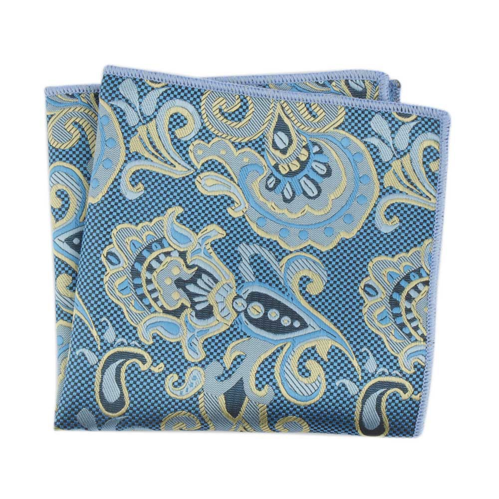 Men's Pocket Towel Perrys Polyester Jacquard Retro European And American Men's Clothing Accessories Suit Bag Towel Handkerchief