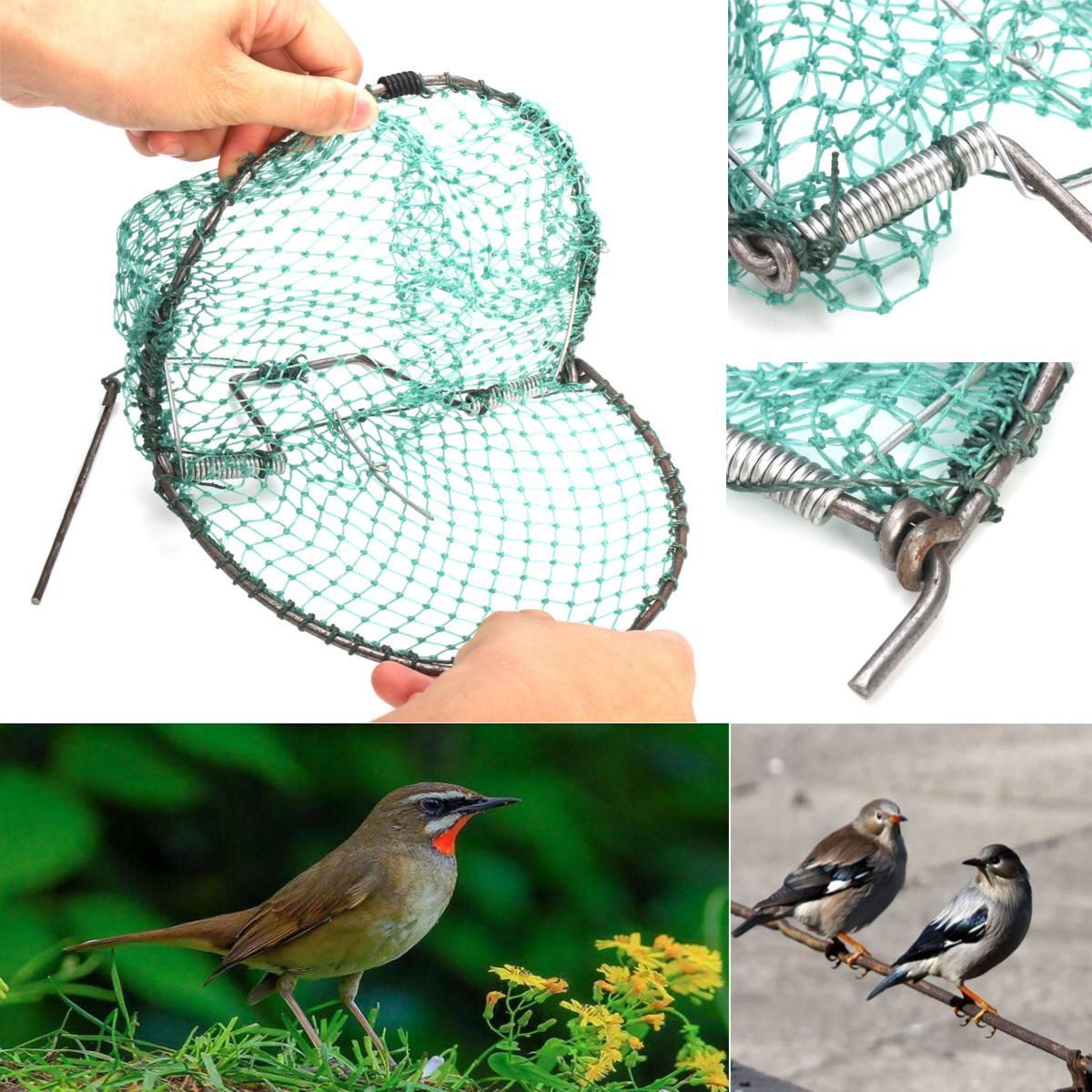 20cm resistente rede de aves eficaz humano ao vivo armadilha de caça sensível codorniz humano caça caça jardim suprimentos controle pragas