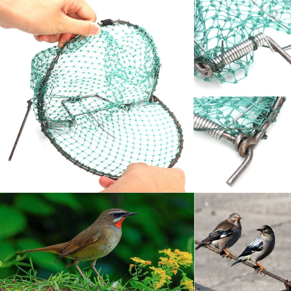 20cm Heavy Duty Bird Net Effective Humane Live Trap Hunting Sensitive Quail Humane Trapping Hunting Garden Supplies Pest Control