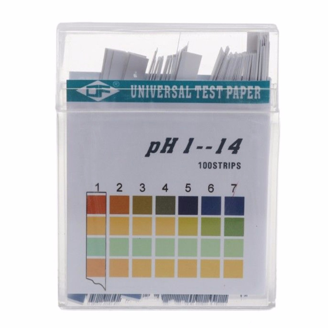 100 Strips Laboratory Household PH Test Strip Indicator PH 1 14 Test Paper For Water Saliva and Urine Testing Measuring in PH Meters from Tools