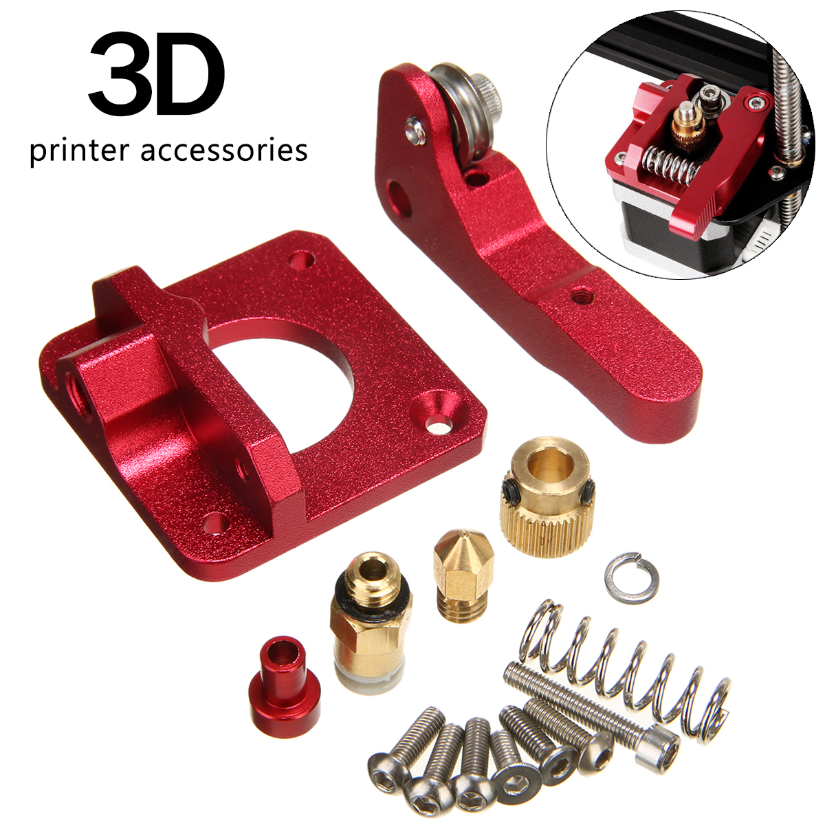 3D Printer Upgraded Replacement Aluminum Extruder Drive Feed Frame for Creality Ender 3 3D Printer Accessories