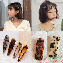 Acrylic Fashion Girl Triangle Hairpin Simple Korea 1 piece Geometric Women Vintage Hair Accessories  Leopard Hollow Clips