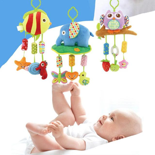 Infant Plush Toy With Rattle Baby Room Bell Toy Accompanying Baby Card Ventilation Bell Decoration Toy Before Going To Bed