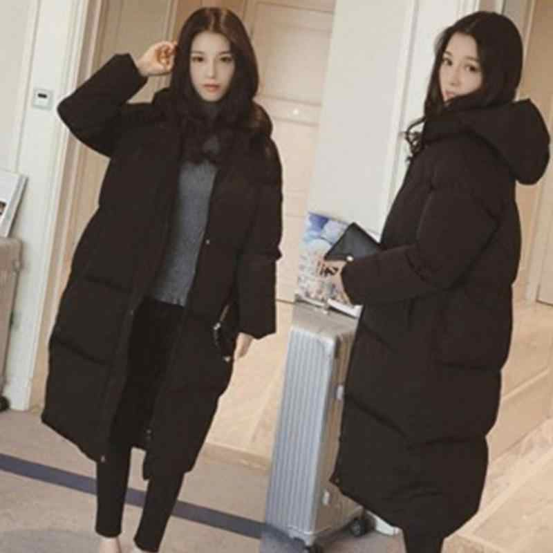 a6b94c4eb New Women Winter Full Length Down Jacket Thick Down Hooded Outdoor Warm  Coat in Black Exquisite Pockets High Quality Zipper Coat