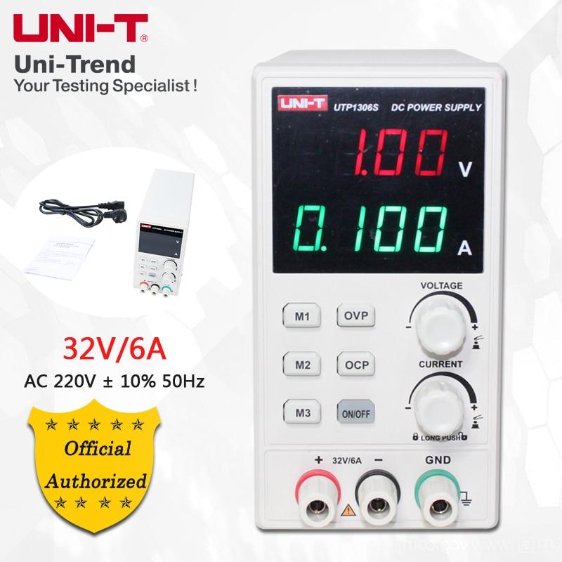 UNI-T UTP1306S Regulated DC Power Supply; 0-6A/0-32V Single Output Switching DC Power SupplyUNI-T UTP1306S Regulated DC Power Supply; 0-6A/0-32V Single Output Switching DC Power Supply