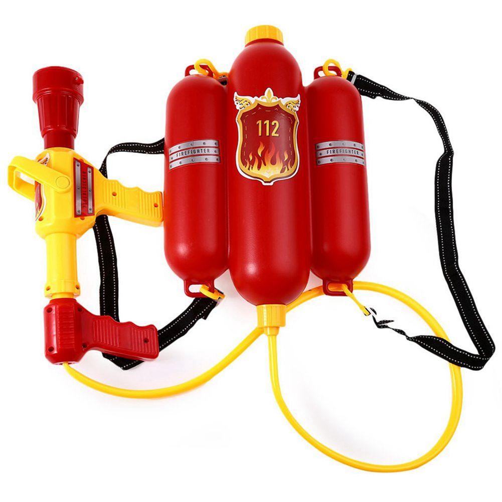 Kids Cute Outdoor Super Soaker Blaster Fire Backpack Pressure Squirt Pool Toy(Random Patterns)