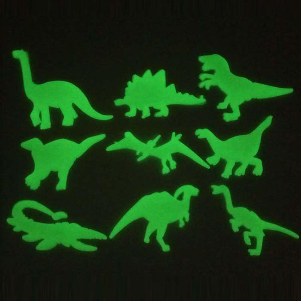RCtown Fluorescent Dinosaur Shape Stickers Toys For Dormitories Kids Room Sticker