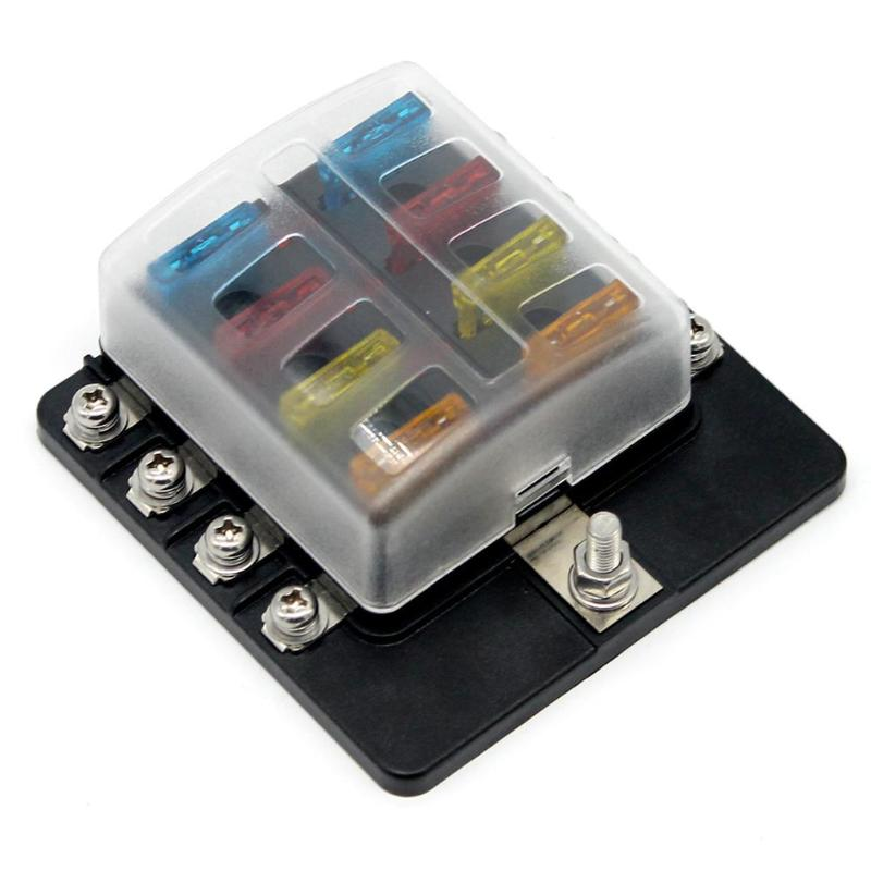 8  10  12 Way Blade Fuse Box Fuse Block Holder With Fuses