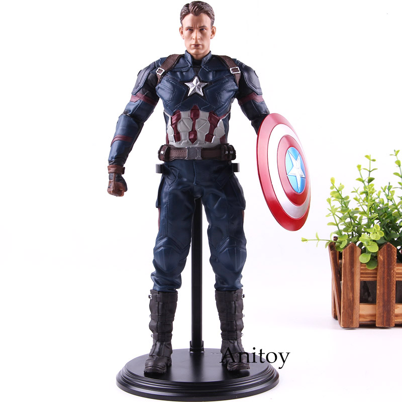 Captain America 3 Civil War Marvel Captain Action Figures PVC Collection Model Toys Gift for Kids-in Action & Toy Figures from Toys & Hobbies    1