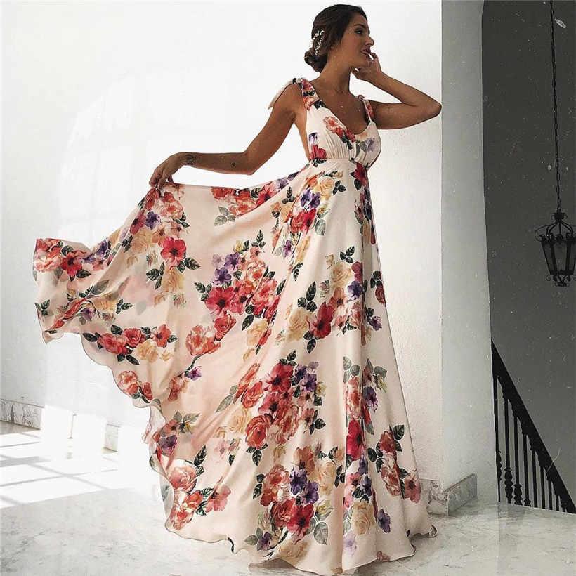 d7220930fb664 SFIT Sexy V Neck Women Vintage Butterfly Print Dress 2019 Summer ...