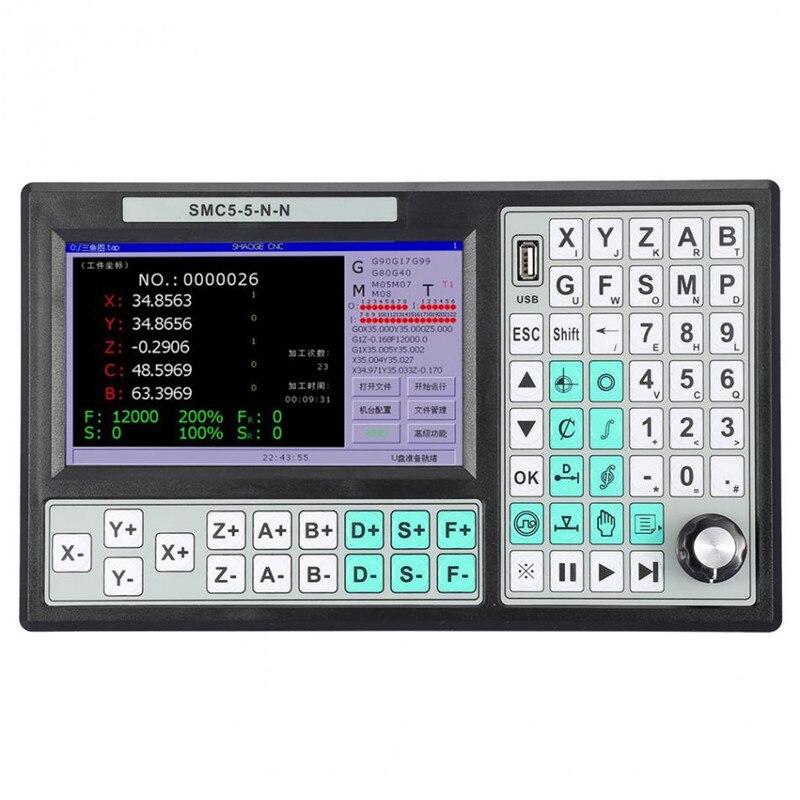 CNC 5 оси автономный Motion Controller Оффлайн ЧПУ 500 кГц 7 дюймов Большой сменный экран Mach 3 USB контроллер движения