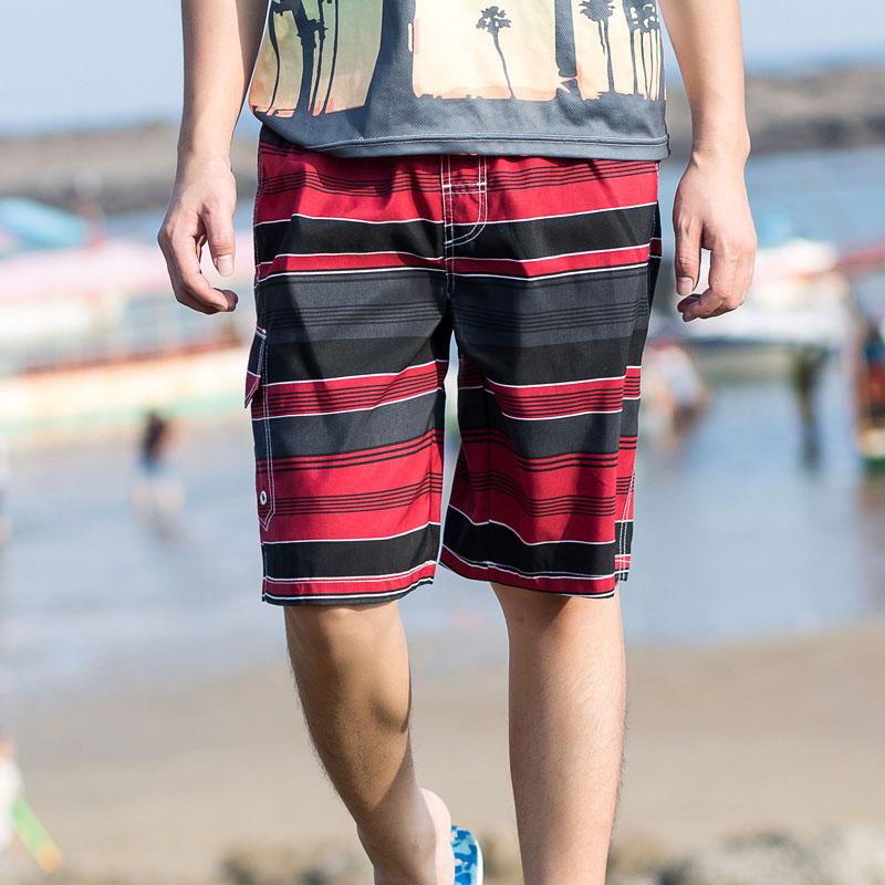 2019 Board Shorts Men's Quick Dry Shorts Striped Bermuda Swimsuit Man Surfing Beach Short Men Badeshorts