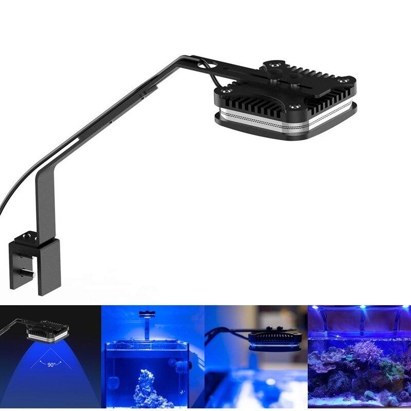 30 W Dimmable lumière LED d'aquarium aquarium lumières spectre complet récif de corail eau salée Clip sur lampe + support + télécommande IR