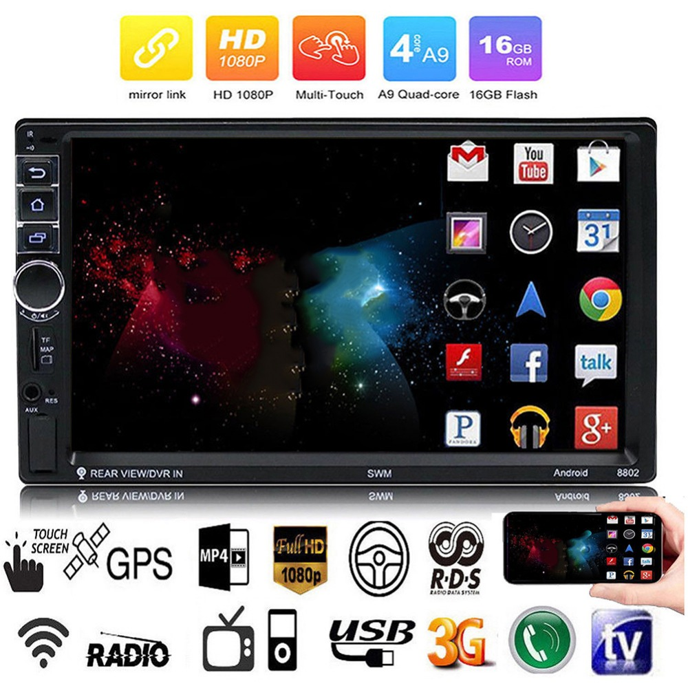 Car Radio Android 7 system 7 Inch Touch Screen Car Bluetooth MP5 Player Car Wifi Reverse Cam GPS Navigation Integrated DeviceCar Radio Android 7 system 7 Inch Touch Screen Car Bluetooth MP5 Player Car Wifi Reverse Cam GPS Navigation Integrated Device