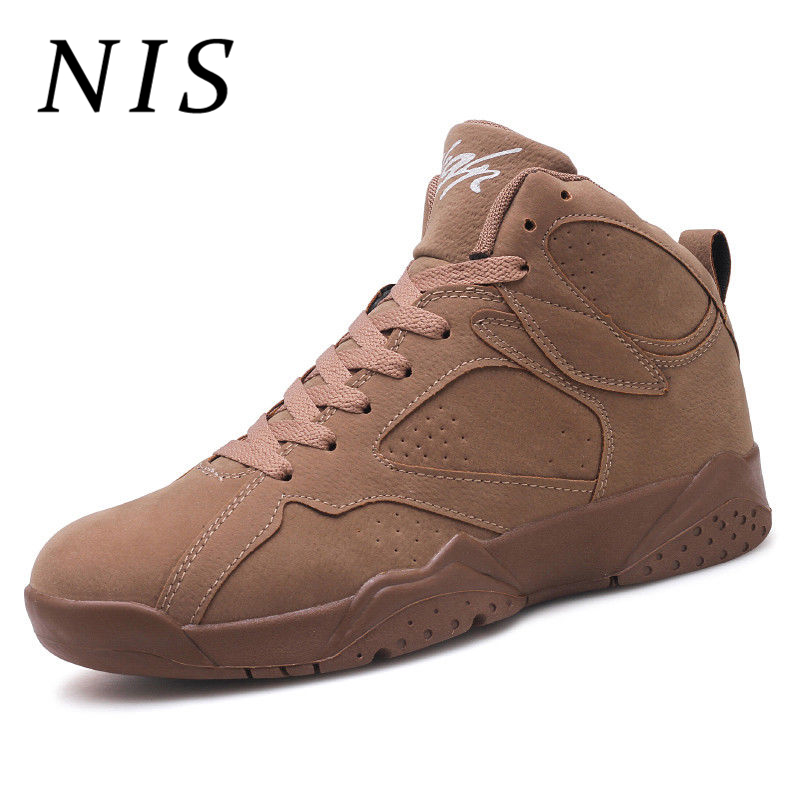 NIS Men High Top Sneakers Men's Vulcanize Shoes Sport Running Basketball Shoes Spring Autumn Breathable Sneakers Big Size 39 44