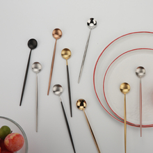 3pcs Coffee spoon long handle 304 stainless steel stirring bar gold-plated matte milk tea cold drinking party tablewa