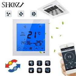 APP WiFi termostat wentylatora klimatyzator chłodzenia pilot zdalnego sterowania za pomocą smartfona programowalny wentylator 2 P 4 P inteligentny dom