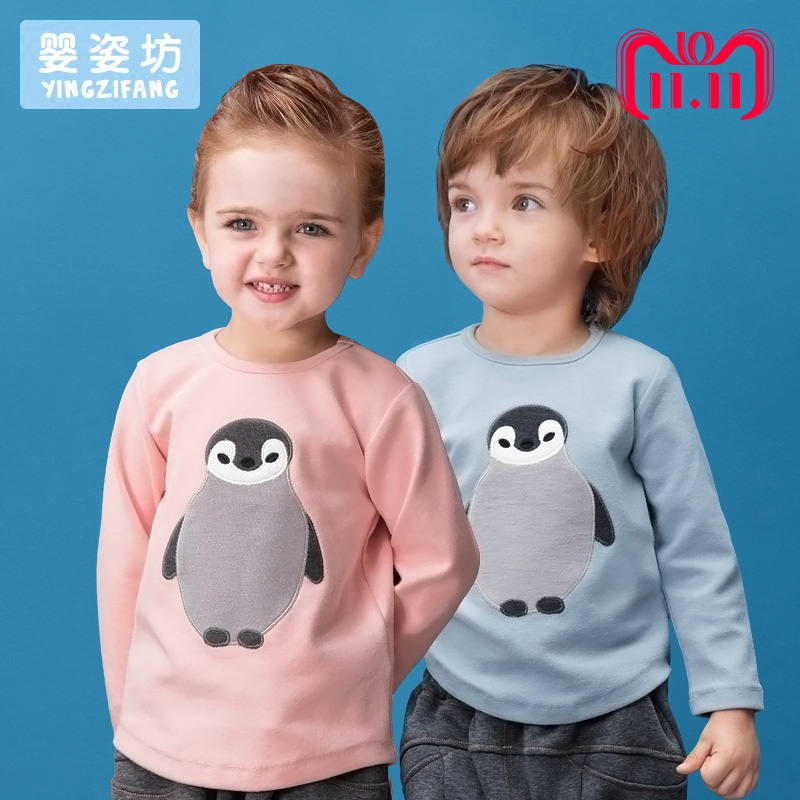 Toddler Sale Special Offer little boy girls Autumn Unisex Casual Cute Sleeves Cotton Penguin baby Tees Kids infant T-shirts laser a2 workbook with key cd rom