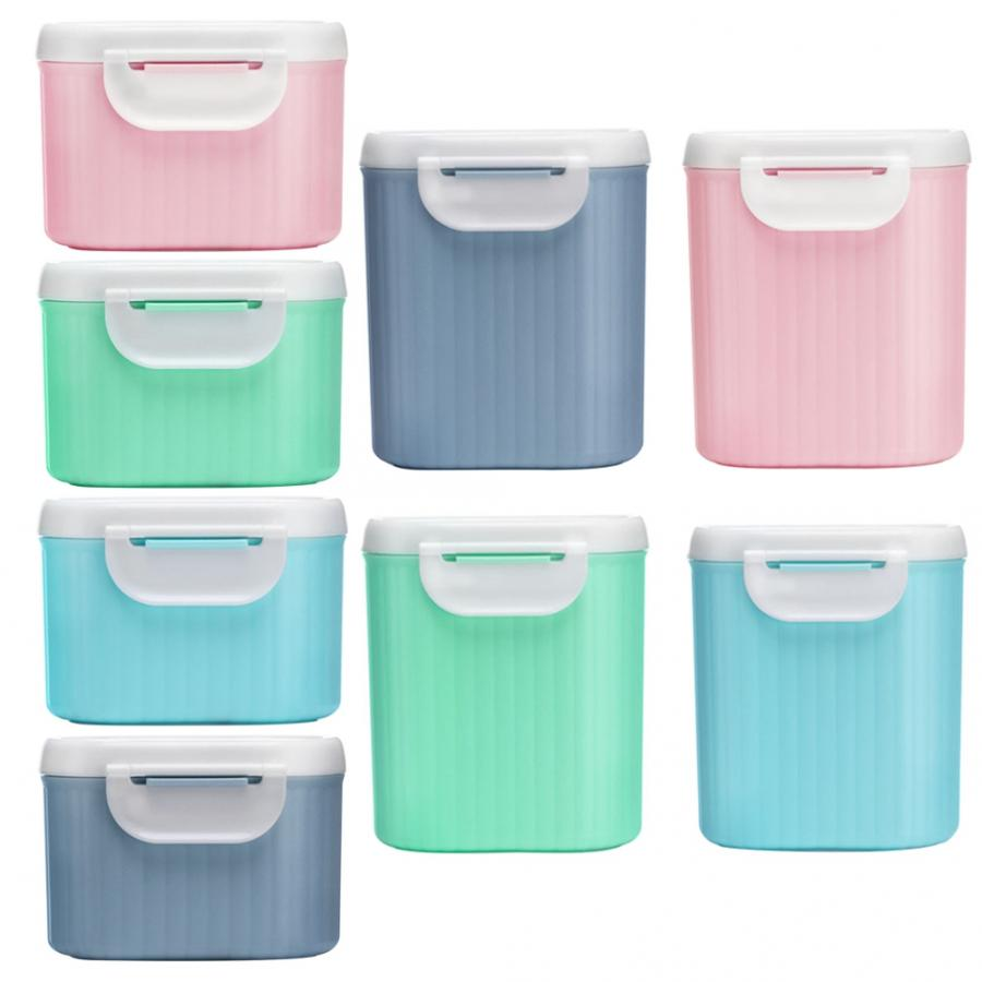 Baby Food Storage Milk Powder Storage Formula Dispenser Travel Sealed Container Baby Food Tank Snack Box PP Plastic