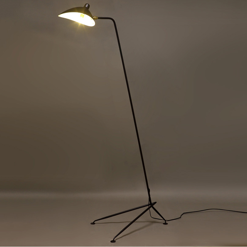 Image 4 - Modern Replica Design Black Floor Lamp Mantis Arm Floor Standing Lamp Nordic Loft Industrial Bedroom Decorate Standing Lamp-in Floor Lamps from Lights & Lighting