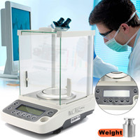 120g/0.0001g Laboratory LCD Analytical Balance Digital Precision Scale High Accuracy Lab Analytical Balance Scale 100 240V 0.1mg