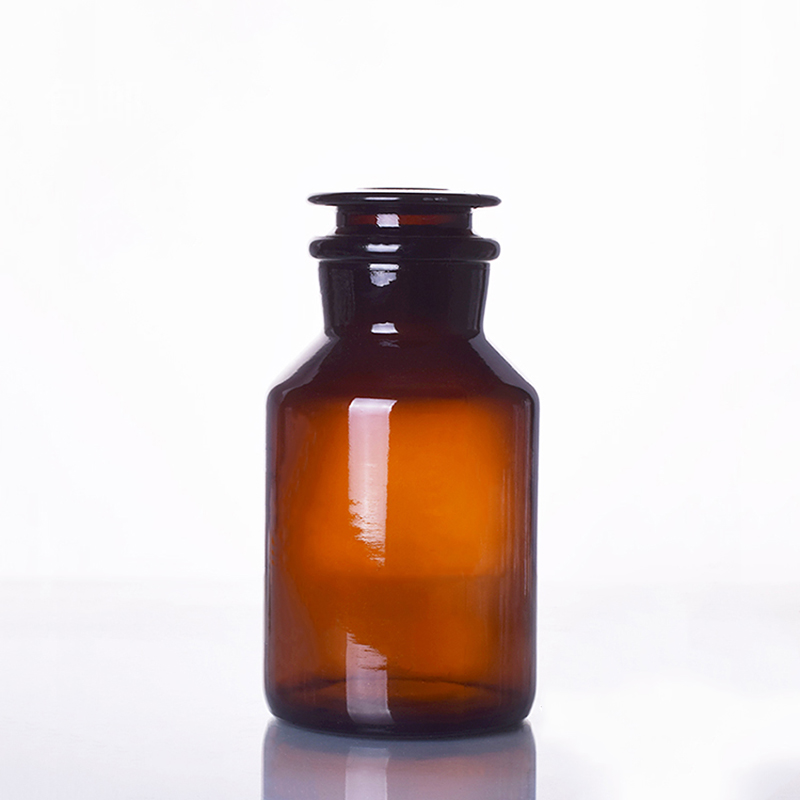 Brown Reagent Bottle,wide Mouth,amber,Brown Ordinary Glass,Normal Glass,Capacity 250ml,Sample Vials