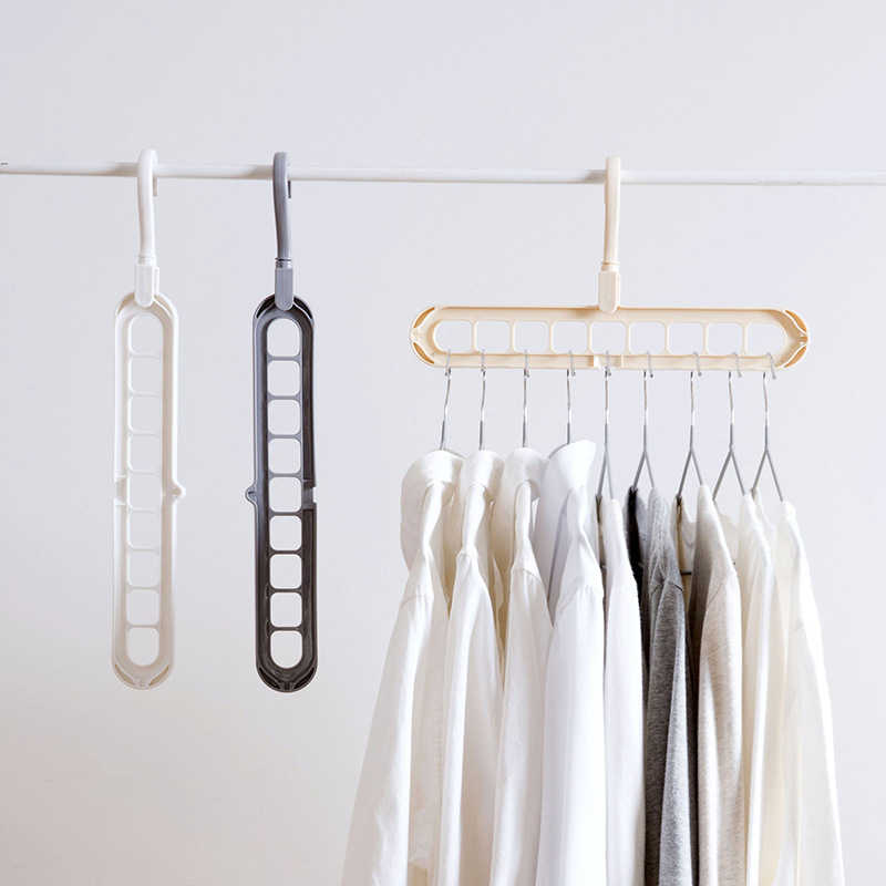 Hot Clothes Hanger 1PC Storage Hanger Drying Rack Plastic For Wardrobe Storage Racks Scarf Clothes Hangers Storage Organization