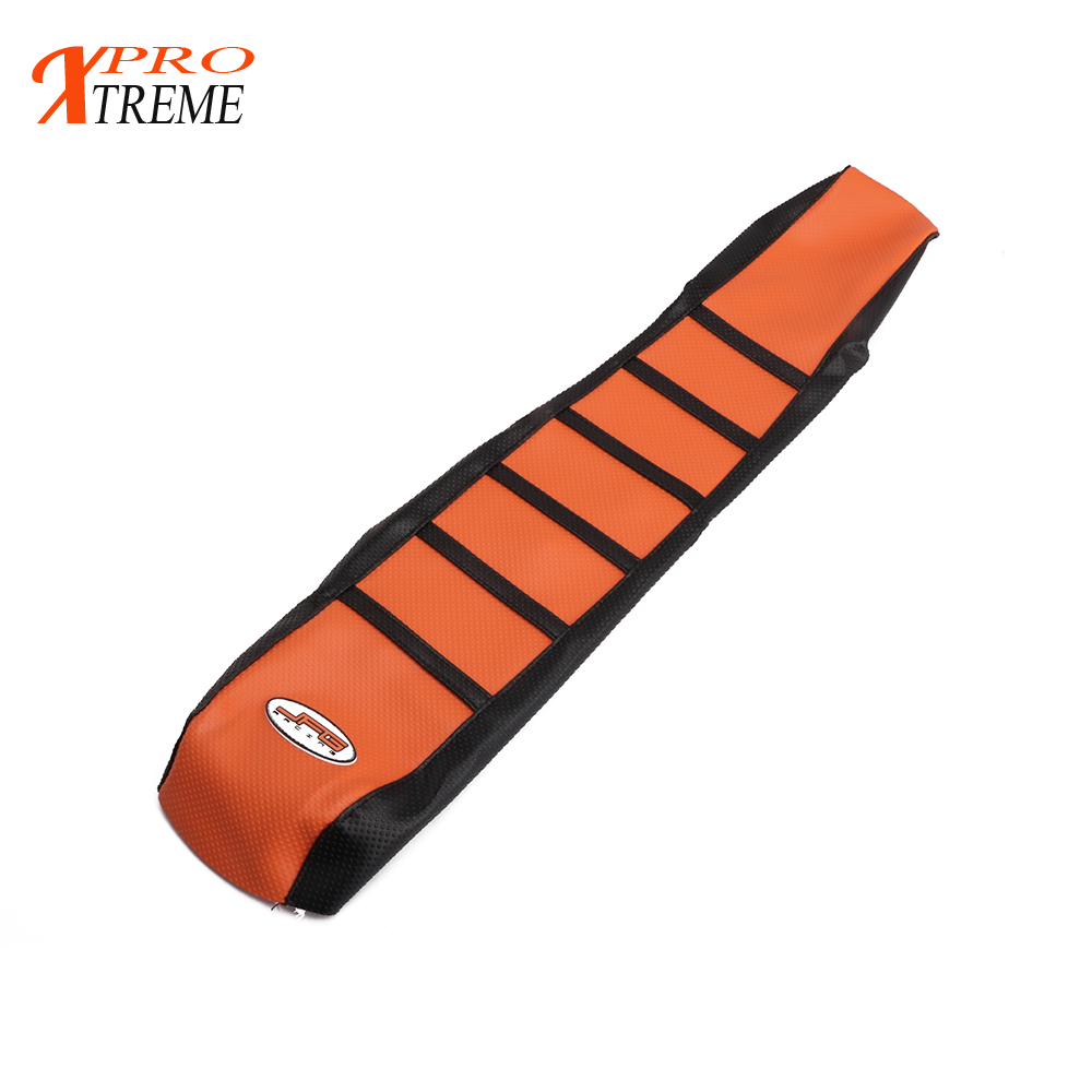 Gripper Soft Seat Cover For KTM XC EXC SX SXF 85 105 125 144 150 200 250 300 450 500 530 Motorcycle Motocross Dirt Bike motorcycle leather soft anti slip seat cover for kawasaki kx125 kx250 kx 125 250 1994 1995 1996 1997 1998 motocross dirt bike