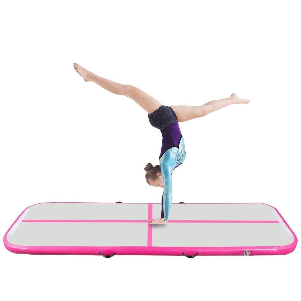 Piste gonflable de Trampoline d'air de Yoga de culbuteur d'airtrack de gymnastique pour la formation d'anniversaire danse de majorette de Taekwondo 6 M * 2 M * 0.2 M