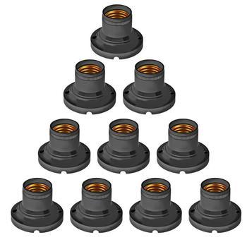 10 sztuk E27 60W podświetlana podstawa gniazdo uchwytu domu lampa biurowa LED żarówka Adapter lampy konwerter stojak biały ognioodporne PBT tanie i dobre opinie CN (pochodzenie) Podstawy lamp Light Base Holder Z tworzywa sztucznego 6cm 1 80 5cm 1 50 90-240V