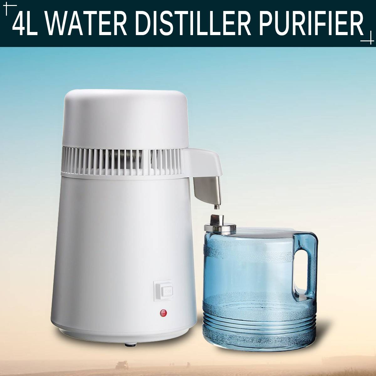 4L Household Pure Water Distiller Distilled Water Machine Distillation Purifier Stainless Steel Water Filter Machine Health dmwd household water distilled machine pure water distiller filter electric distillation purifier stainless steel 110v 220v 4l
