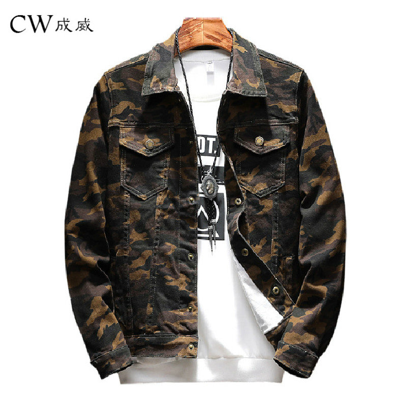 New Mens Camouflage Denim Jacket Coat Male Outwear Jaqueta Masculino Denims Jacket and Coats Vogue Design Autumn Model Clothes Jackets, Low cost Jackets, New Mens Camouflage Denim Jacket Coat...