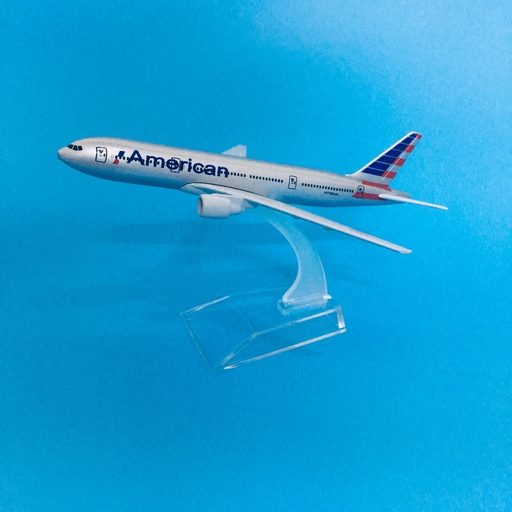 Plane Model Airplane Model American Boeing 777 Aircraft Model Diecast Metal Airplanes Model 16cm 1:400 Plane Toy Gift