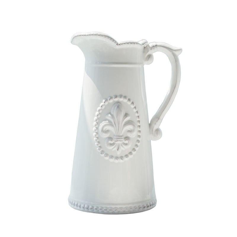 Européenne blanc vase en céramique de mariage vases décor plancher maison de décoration vase de fleurs en porcelaine vase pour fleurs-in Vases from Maison & Animalerie    1