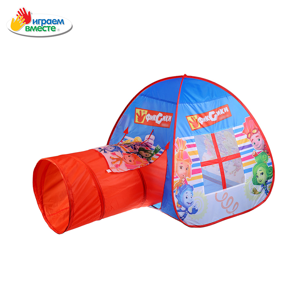 Toy Tents IGRAEM VMESTE 266843 Children wigwam kids house play tent boys girls boy girl game GFA-TONFIX01-R trackman outdoor tent ultralight 2 person camping tents 3 season waterproof double layers picnic hiking tents