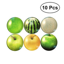 10pcs Fruit Fridge Magnets Glass Refrigerator Magnet Early Education Toys Home Decoration (Random Pattern)(China)