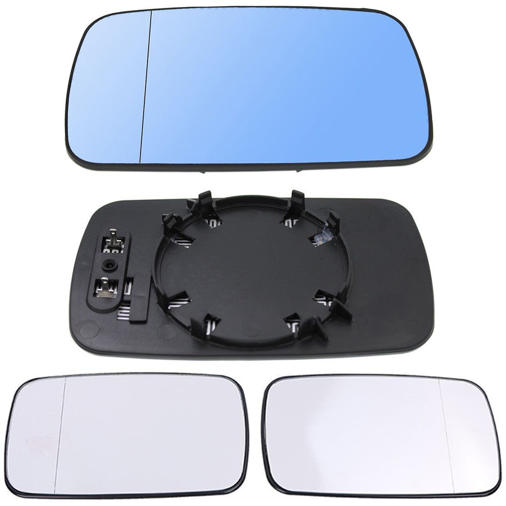 Heated Door Mirror Glass Left Driver Side Blue For BMW E46 Coupe E65 Sedan
