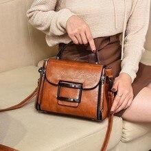 2019 Spring Vintage Designer Real Genuine Leather Handbag Woman Small Shoulder Crossbody Ba