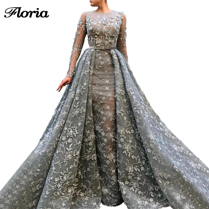 Abendkleider Robe De bal formelle avec jupe saoudienne arabe moyen-orient Robe De soirée pour les mariages Robe De soirée 2019 robes De soirée