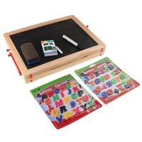 Wooden Blackboard Erase Board Magnetic Letter Number Blocks Early Learning Educational Toys Birthday Gift for Children Kids