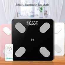 LCD Digital Body Index Fat Scale Electronic Smart Voice Bluetooth APP Electronic Scales for Apple/IOS Bathroom Household Balance
