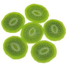 Gresorth 6pcs Premium Simulation Fruit Artificial Kiwi Slice Fake Green Fruits Home Party Decoration