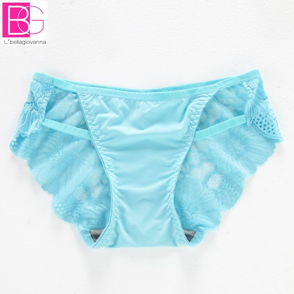 d54ac912d41c51 L'bellagiovanna Women Briefs Seamless Bikini Sexy Lace Hollow Panties  Low-rise Solid Brand Underwear Female Pink Panties 5538