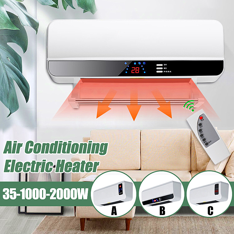 2000 W Calendrier Mural Chauffe-Espace climatiseur vêtements serviette de Séchage D'air PTC Chauffage 220 V