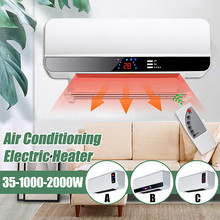 2000W Timing Wall Mounted Heater Space Air Conditioner Drying Clothes Towel PTC Air Heating 220V