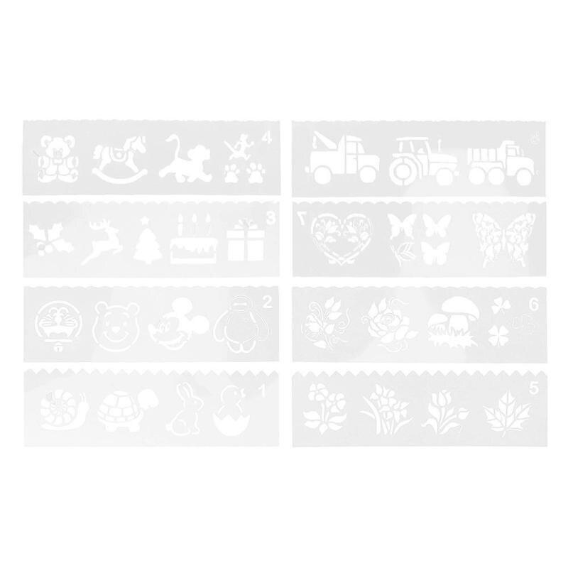 8 Stücke Kunststoff Kinder Malerei Zeichnung Vorlage Herrscher Werkzeug Diy Handwerk Form