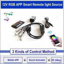 DC12V 2 Вт Светодиодный светильник источник RGB мини осветитель светодиодный излучатель сторона свечение волоконно-оптический кабель для автомобиля 3 мм-10 мм светильник отверстие