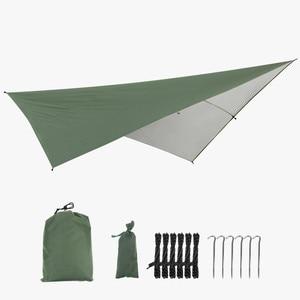 Image 1 - Outdoor Portable Hammock Tents Waterproof Beach Picnic Pad Summer Sunshade 290*290cm Large Light Awning Hamak For 2 3 People