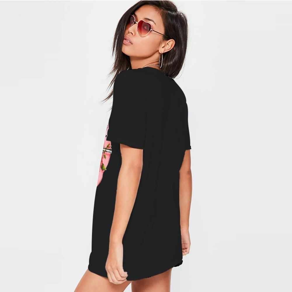 HDY Haoduoyi Mode Casual Harajuku Pistolen Stieg Gedruckt Tops T Sommer Weibliche T-shirts Kurzarm T shirt Für Frauen Kleidung